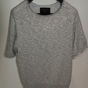 Sweatshirt: All saints- short sleeve, heather grey